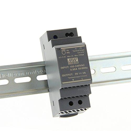 ? 5Vdc 3A 15 Watt, Mean Well HDR-30-5 DIN-Rail LED Hutschienen Netzteil