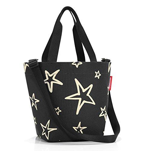 Reisenthel Shopper XS Stars, Polyester, Schwarz, 31 x 21 cm (Shopper Kleiner)