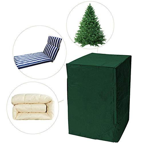 Sue-Supply Gartenmöbel Abdeckung, Patio Stuhlhussen Stapelbar 210D Wasserdicht Staubdicht Möbel Weihnachtsbaum Staubschutz -