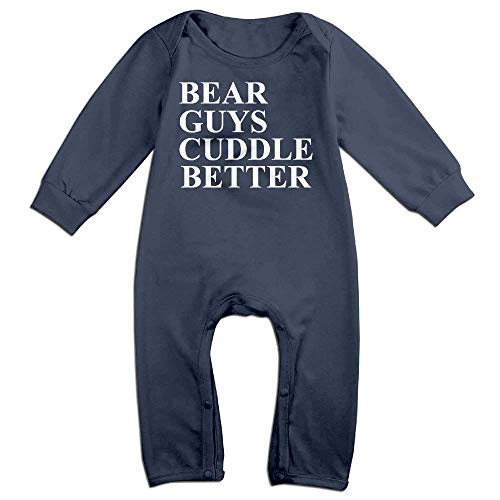 TOPDIY Bear Guys Cuddle Better Long Sleeve Baby Romper Bodysuit Outfits Clothes