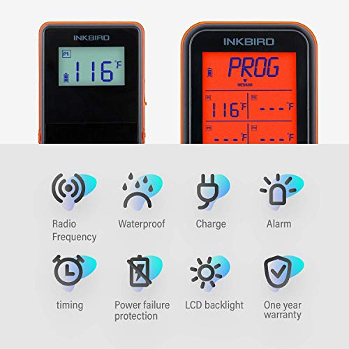 Zoom IMG-2 inkbird termometro per barbecue impermeabile