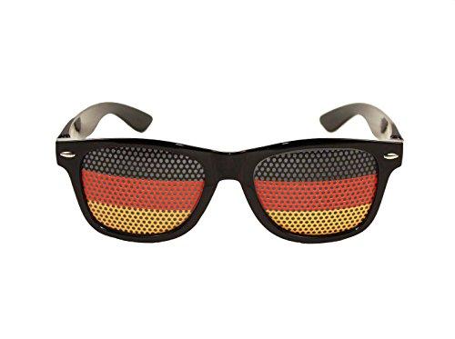 HAAC Fan Brille Gag Party in Deutschlandsfarben Deutschland Fußball 2018
