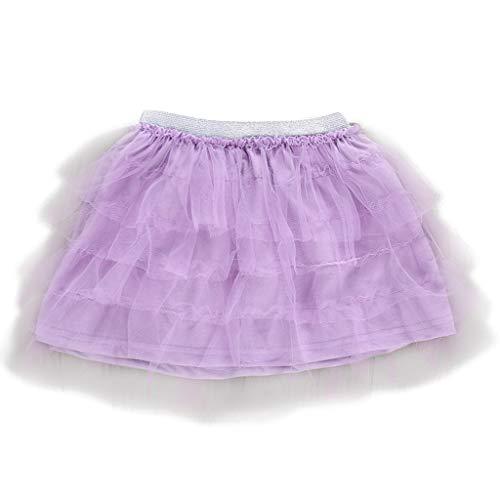 Tanz Magazin Kostüm - Livoral Mädchen Stretch Pettiskirt Kinder Baby Tanz festen Rock Ballettröckchen Ballett Phantasie Kleidung(Lila,130)
