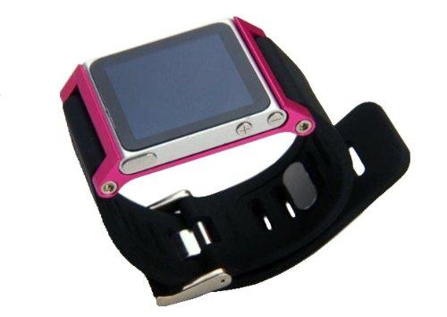 ZSTX Multi-Touch Aluminium-Armband Tasche für Apple iPod nano 6. Generation 8GB 16GB (OEM) (Rosa) (Band Apple Watch Ipod)