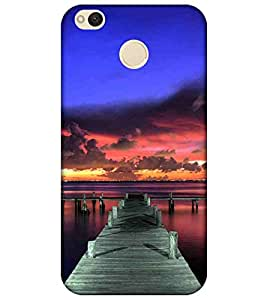 For Xiaomi Redmi 4 pier and a lake, sunset on the lake, pier Designer Printed High Quality Smooth Matte Protective Mobile Pouch Back Case Cover by BUZZWORLD