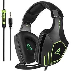 [2017 SUPSOO G820 Xbox One casque d'écoute stéréo PS4] Casques de jeu Bass avec microphone d'isolement de bruit pour la nouvelle Xbox One PS4 PC portable Mac iPad iPod