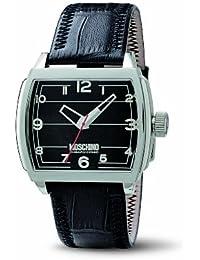 Moschino Collection Hey Man?! MW0111 - Reloj de caballero de cuarzo, correa de piel color negro