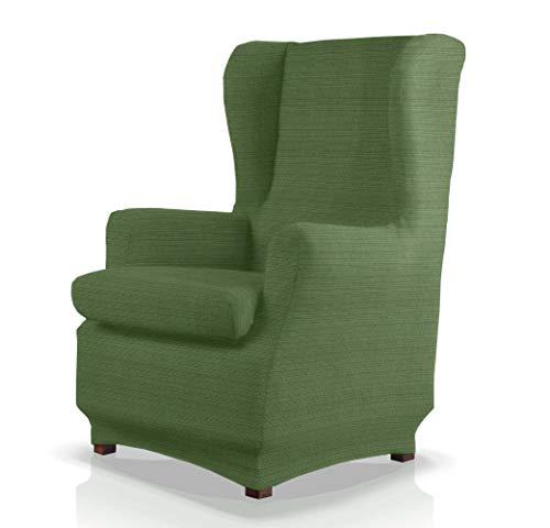 JM Textil Copripoltrona con Orecchie Elastico 2 Pezzi Ford, Standard (70-90cm), Verde 04