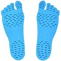 Kleber Fuß Pads Feet Sticker STICK-Sohlen, rutschfest mit Fuß L blau, 1Paar preisvergleich bei billige-tabletten.eu