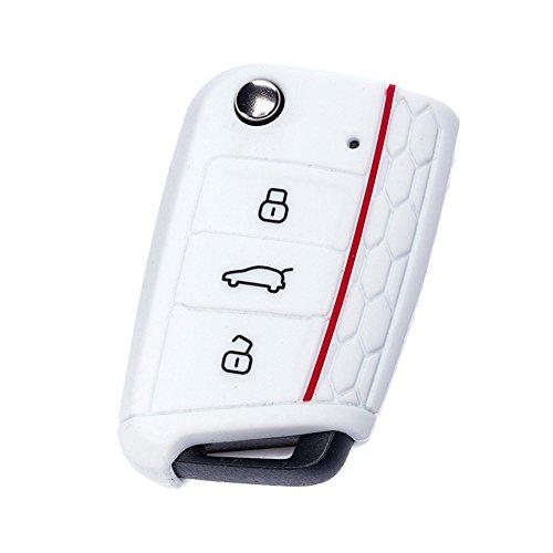 Happyit 3 Botones de Silicona Suave Remoto Llave Cubierta Casos Ajuste VW...