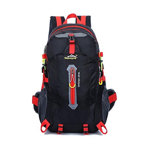 Zaini da escursionismo, Traspirante Spalla Zaino Viaggio Trekking Alpinismo Zaino Unisex Zainetto All'Aperto black 2