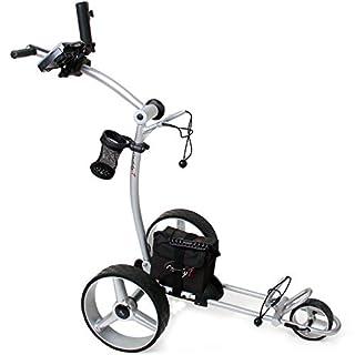 CADDYONE Elektro Golf Trolley 610 in Silber mit 1 x 300 W Motor Lithium Akku