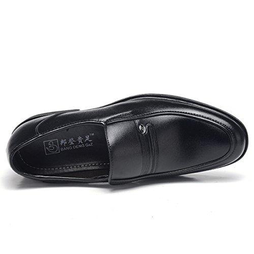 Affari Gli Scarpe Cuoio Nero Formale Per Vestito Di Uomini Grrong Genuino pxBIzdqp