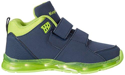 KangaROOS K-lev Vii, Sneakers basses mixte enfant Mehrfarbig (Dk Navy/lime)
