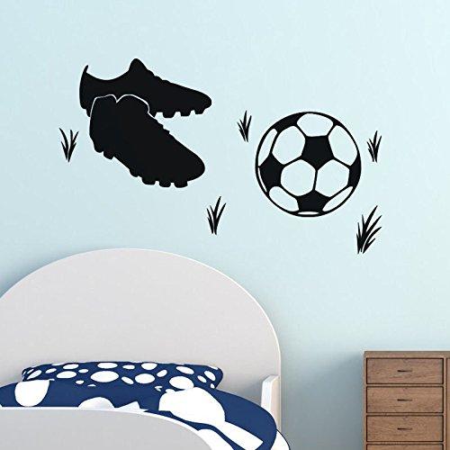 ZNXZZ Hot Sale DIY Fußball und Fußball Schuhe Sticker für bed room Wall Sticker Deko fluoreszierende Wohnzimmer Home Decoration (Sale Glas-schuhe Für)