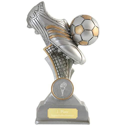 pokalspezialist Fußball Pokal BERNIS Fußballschuh Fußballpokal Trophäe 16 cm PVC mit Gravur jetzt selbst Gestalten