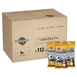 Pedigree Dentastix Dog Treats Dental Chews Dental Care for Medium Dogs from 10-25 kg, 1 Box (1 x 2.88 g/Total of 112 Chews)