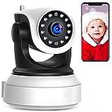 720P WLAN IP Kamera Indoor Überwachungskamera Innen Handy, Hund/Baby Monitor mit P2P Infrarot Nachtsicht - Bewegungserkennung - Zwei Wege Audio C7824WIP