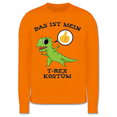 Kinder Kostüm Trex Orange - Shirtracer Karneval & Fasching Kinder - Das ist Mein T-Rex Kostüm Comic - 3-4 Jahre (104) - Orange - JH030K - Kinder Pullover