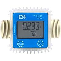 ACAMPTAR 1 Pieza K24 LCD Medidor De Flujo De Combustible Digital De Turbina Ampliamente Utilizado para Productos Quimicos De Agua