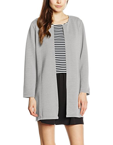 Grau Long Pullover (ONLY Damen  Onlleco 7/8 Long Cardigan Jrs Noos, Grau (Light Grey Melange Light Grey Melange), 42 (Herstellergröße: XL))