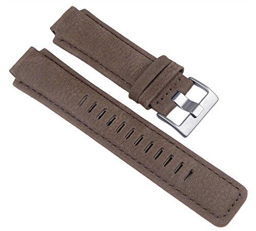 Timex Ersatzband, Leder, Braun, 16mm für T2N721, T2N739, T2P141, T2N720, T2N722, T2N723, - 16mm Watch Timex Band
