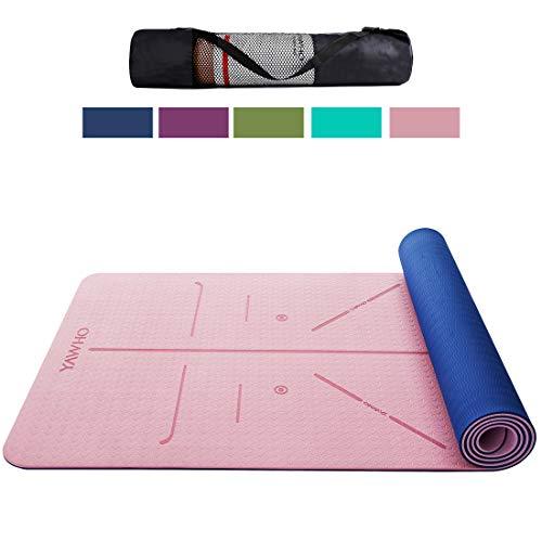 YAWHO Colchoneta de Yoga Esterilla Yoga Material medioambiental...