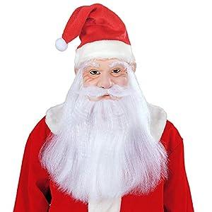 WIDMANN vd-wdm1532s Máscara Papá Noel Navidad, blanco, talla única