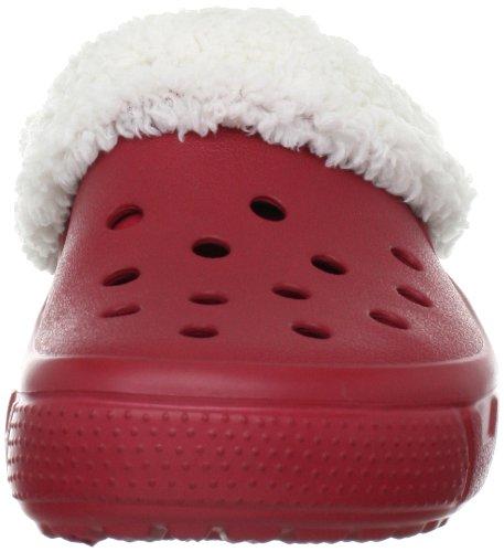 Crocs Mammoth Full Collar Sabot U Unisex - Erwachsene Clogs & Pantoletten CR.12878 Rot (True Red/Oatmeal)