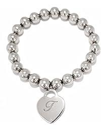 Tatitoto Bracelet Femme en Métal Blanc, Diam. Cm 6, 8 Grammes