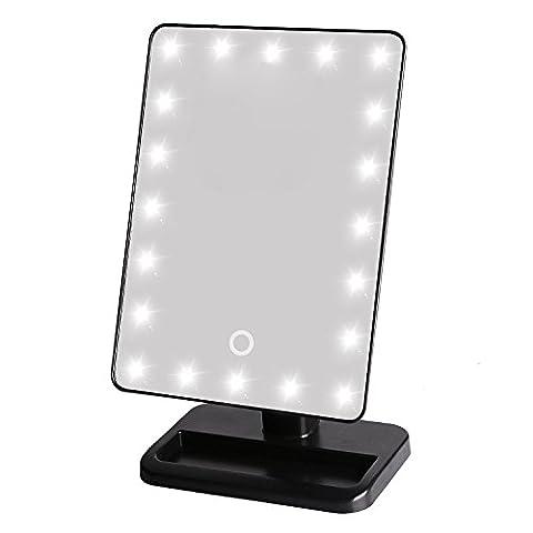 20 ampoules LED éclairage stand cosmétique miroir tactile écran réglable