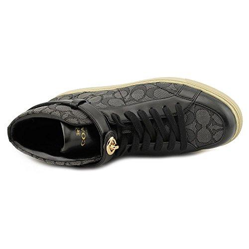 Coach Ray Outline Sig/Sprt Nap Damen Textile Turnschuhe BlackSmoke/Black