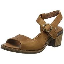 Fly London Women's ZORA583FLY Ankle Strap Heel Sandals, Brown (Cognac 002), 7 (40 EU)