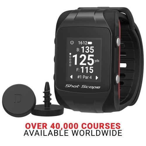 Shot Scope V2 Smart-GPS-Armbanduhr mit Smart-Test-Golf-Uhr, Schwarz