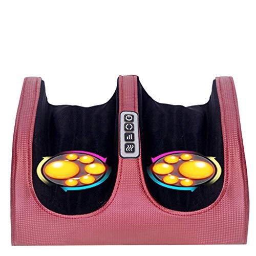 WJSWJ Elektrische Shiatsu Fußmassagegerät Mit Wärme, Shiatsu Fußmassagegerät Tief Kneten Rollen Einstellbare Intensität Akupressur Maschine Stressabbau Spa Geschenk