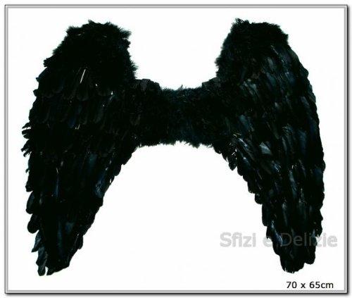 ENGELSFLÜGEL GOTHIC 70 x 65 cm (Dark Angel Kinder Kostüme)