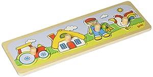 Goki-57493 Puzzles de Madera Encaje, Visita En la Granja, (4013594574938)