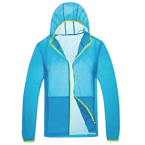 Sonnenschutzjacke Unisex Cooling Sommer Outdoor-klimatisierte Kleidung Bluse Elecenty Sonnenschutzjacke UV-Schutz Softshelljacke Winddicht Wasserabweisend Atmungsaktiv -