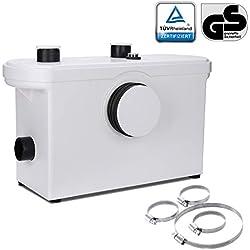 Hengda Broyeur Sanitaire, WC Broyeur Pour Eliminer Les Eaux Usées,3/1 Station Pompe de Relevage Pour WC Lavabo 400W,Silencieuse