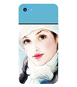 Beautiful Girl 3D Hard Polycarbonate Designer Back Case Cover for Apple iPhone 5c