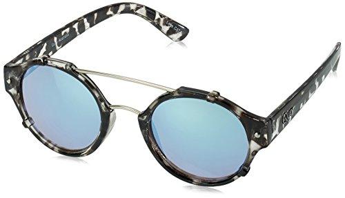Quay Eyewear Unisex Sonnenbrille IT`S A Sin, Schwarz (Blkto/Blue Mirr), One size (Herstellergröße: Einheitsgröße)