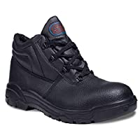 SuperTouch Chukka Boots S1P Black Leather Steel Toe Cap & Mid Sole Safety Boots