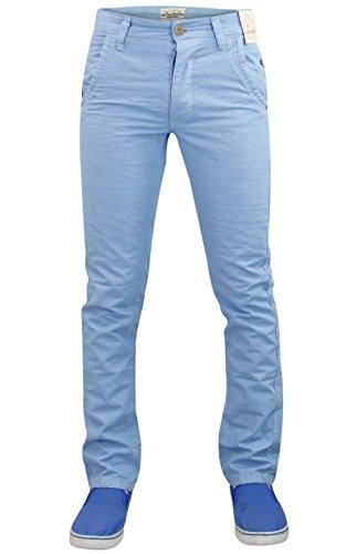 Nouveaux hommes Jacksouth concepteur Chino Slim Skinny jambe droite pantalon coton Sky