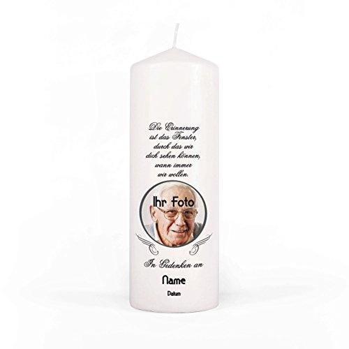 Preisvergleich Produktbild private grief Gedenkkerze mit Foto inklusive Beschriftung für Trauerfeier