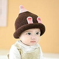 Myzixuan Sombreros de los niños otoño Lana Invierno Tejer Gorros Sombreros  niño bebé Sombreros otoño Invierno 4063dac75fd