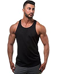 Yujeet Hombre Gimnasio Musculación Muscular Chaleco Sin Mangas Suelto Transpirable Sudor Absorción Luz Casual ...