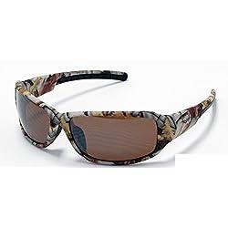 Gafas de sol de camuflaje de VertX, tonos marrones, naranja, blanco, para pesca, caza al aire libre Marrón White Snow Camo - Amber Lens