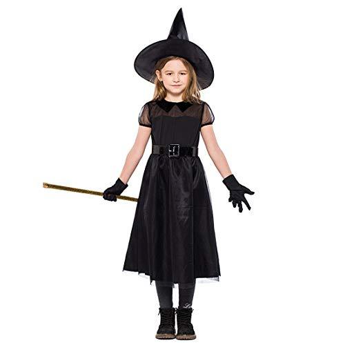 HOOLAZA Mädchen Schwarzes Rollenspiel Little Witch Costume Pretty Dress3 - Pretty Witch Kostüm