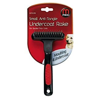 Mikki Anti-Tangle Undercoat Rake, Soft Grip Handle, Small 7