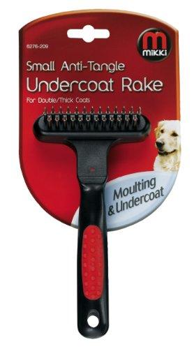 Mikki Anti-Tangle Undercoat Rake, Soft Grip Handle, Small 1